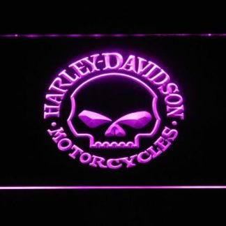 Harley Davidson Skull neon sign LED