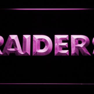 Oakland Raiders Text neon sign LED