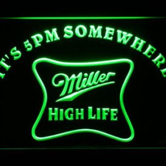 Miller High Life It's 5pm Somewhere neon sign LED
