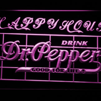 Dr Pepper Happy Hour neon sign LED