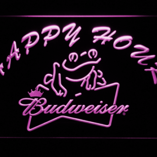 Budweiser Frog Happy Hour neon sign LED