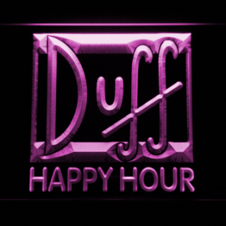 Duff Happy Hour neon sign LED