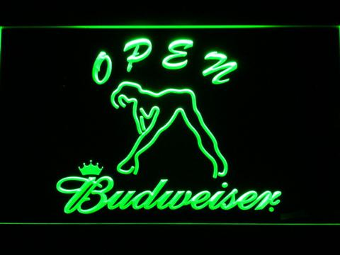Budweiser Woman's Silhouette Open neon sign LED