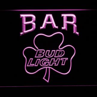 Bud Light Shamrock Bar neon sign LED
