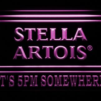 Stella Artois It's 5pm Somewhere neon sign LED