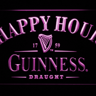 Guinness Draught Happy Hour neon sign LED