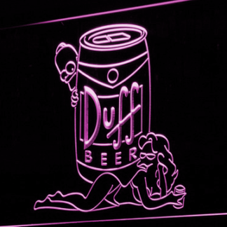 Duff Simpsons neon sign LED