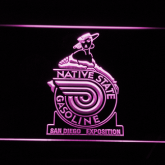 Native State Gasoline neon sign LED
