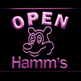 Hamm's Open neon sign LED