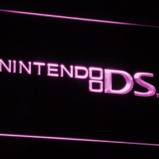 Nintendo DS neon sign LED