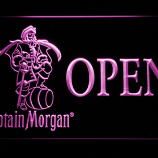 Captain Morgan Open neon sign LED