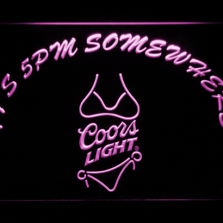 Coors Light Bikini It's 5pm Somewhere neon sign LED