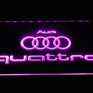 Audi Quattro neon sign LED