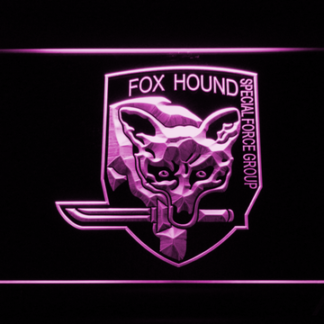 Metal Gear Solid - Foxhound neon sign LED