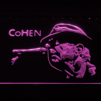 Leonard Cohen Face neon sign LED