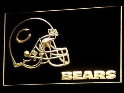 Chicago Bears Helmet neon sign LED