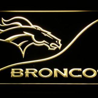 Denver Broncos Split neon sign LED