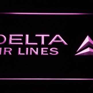 Delta Airlines neon sign LED