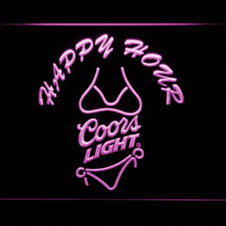 Coors Light Bikini Happy Hour neon sign LED