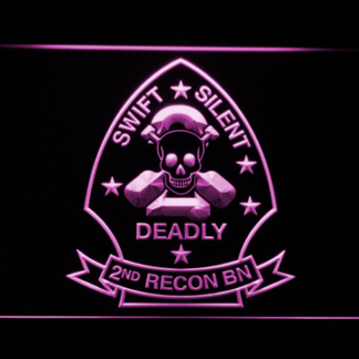 US Marine Corps 2nd Recon Battalion neon sign LED