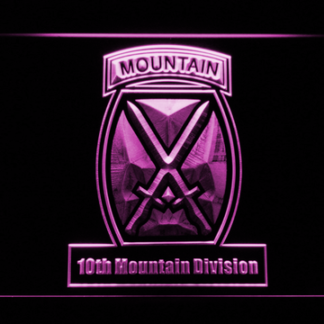 US Army 10th Mountain Division neon sign LED