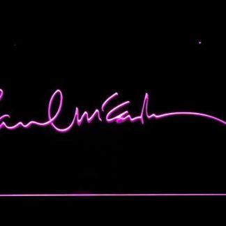 The Beatles Paul McCartney Signature neon sign LED