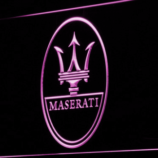 Maserati neon sign LED