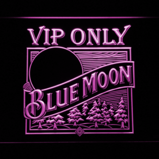 Blue Moon Old Logo VIP Only neon sign LED