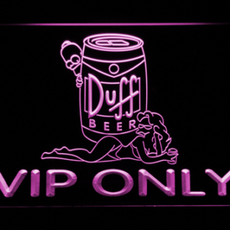 Duff Simpsons VIP Only neon sign LED