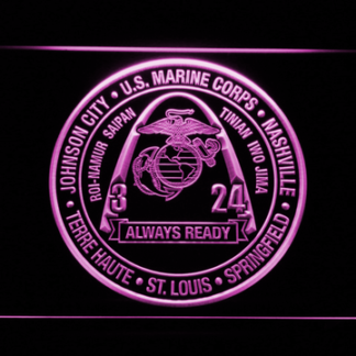 US Marine Corps 3rd Battalion 24th Marines neon sign LED