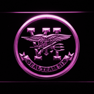 US Navy SEAL Team 6 neon sign LED
