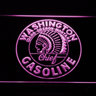 Washington Gasoline - Chief neon sign LED