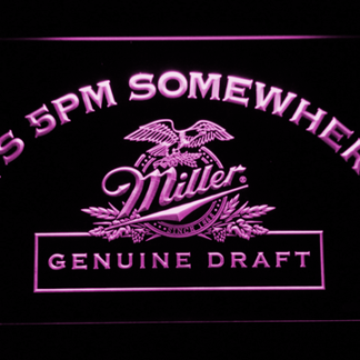 Miller Genuine Draft It's 5pm Somewhere neon sign LED