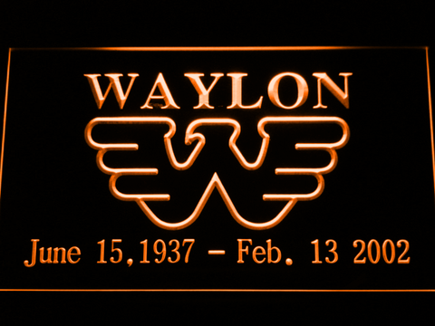 Waylon Jennings neon sign LED
