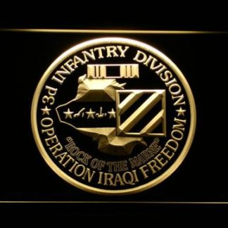 US Army 3rd Infantry Division Operation Iraqi Freedom neon sign LED