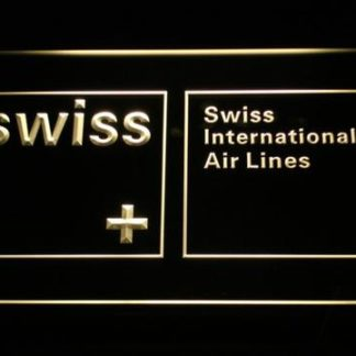 Swiss International Airlines neon sign LED
