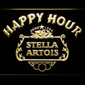 Stella Artois Crest Happy Hour neon sign LED