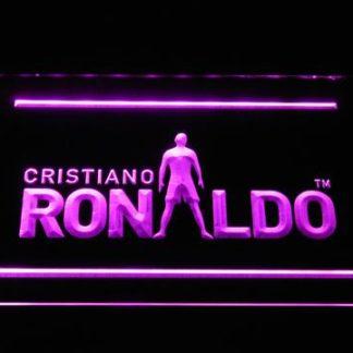 Real Madrid CF Cristiano Ronaldo Silhouette neon sign LED