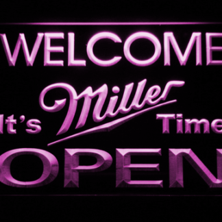 Miller It's Miller Time Open neon sign LED