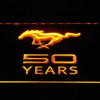 Ford Mustang 50 Years neon sign LED