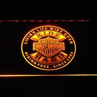 Harley Davidson Ride Hard neon sign LED
