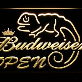 Budweiser Lizard Open neon sign LED