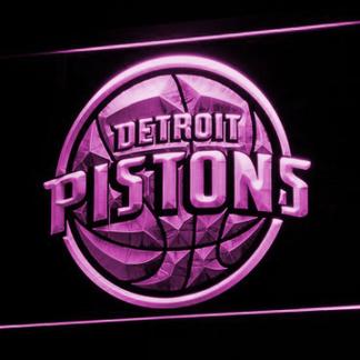 Detroit Pistons neon sign LED