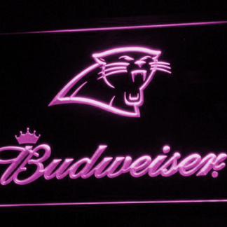 Carolina Panthers Budweiser neon sign LED
