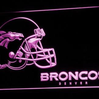 Denver Broncos Helmet neon sign LED