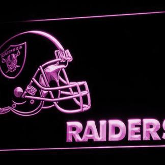 Oakland Raiders Helmet neon sign LED