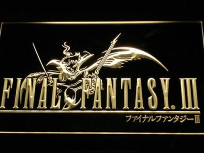 Final Fantasy III neon sign LED