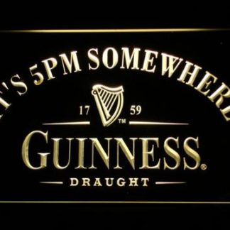 Guinness Draught It's 5pm Somewhere neon sign LED