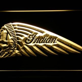 Indian Chief Left Facing neon sign LED
