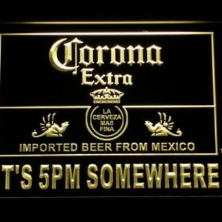 Corona Extra It's 5pm Somewhere neon sign LED